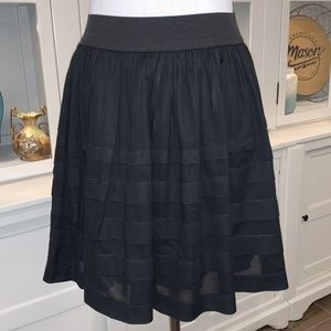 Anthropologie Odille Tiered Fully Lined Skirt